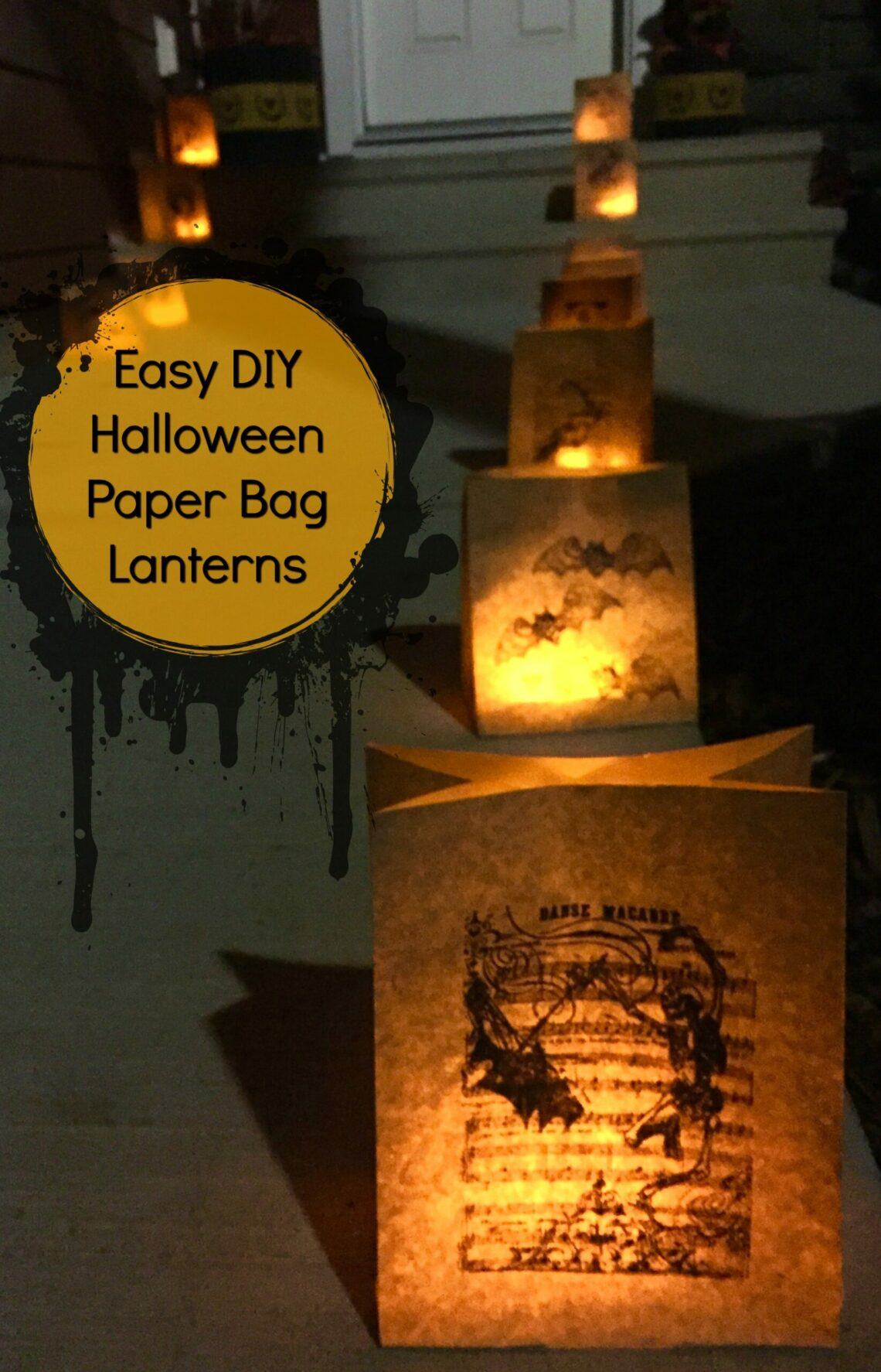 Easy Diy Halloween Paper Bag Lanterns And Then Home