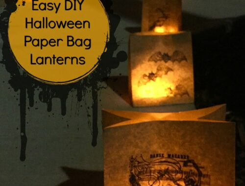 Easy DIY Halloween Paper Bag Lanterns