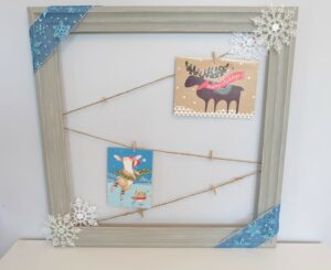 DIY Framed Christmas Card and Photo Holder