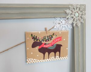 DIY Framed Christmas Card and Photo Holder