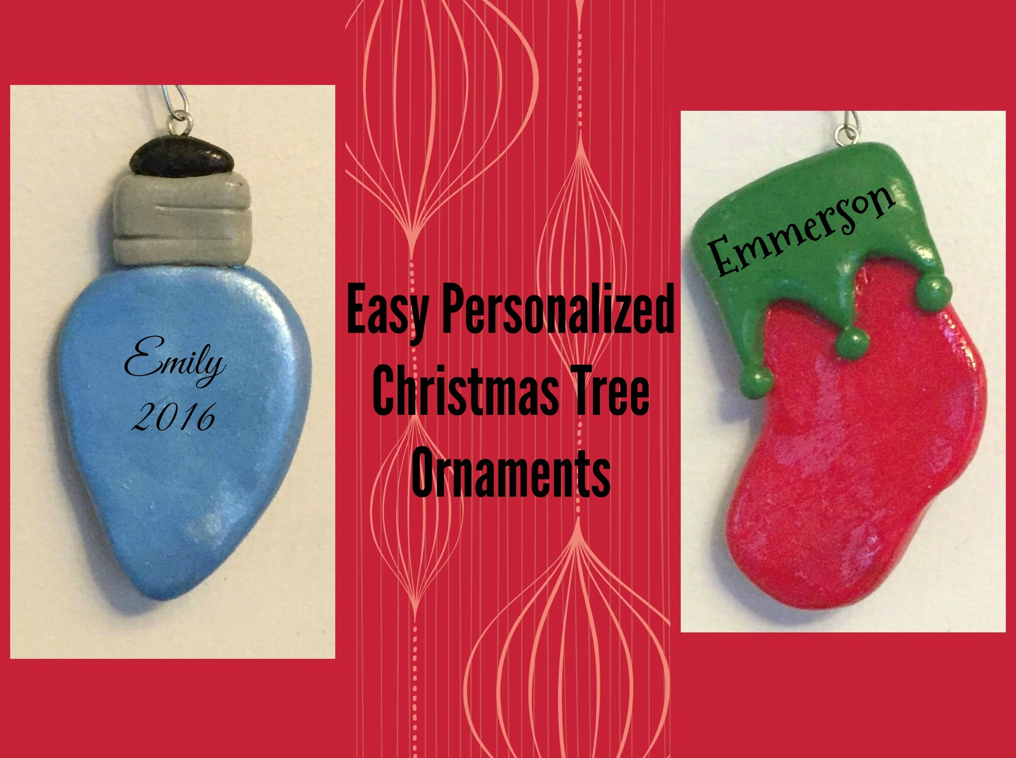 Easy Personalized Christmas Tree Ornaments