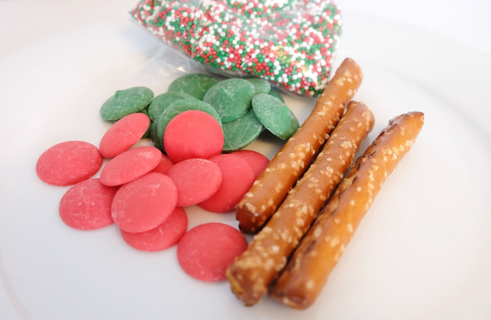 Holiday Chocolate Dipped Pretzel Sticks And Then Home
