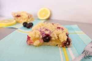 Easy Lemon Blueberry Squares
