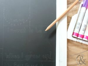 Back to School Memory Chalkboard