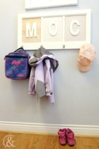 Fabulous DIY Up-Cycled Kids Coat Rack
