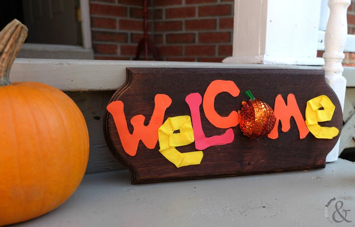 Fun Fall Welcome Decor Sign
