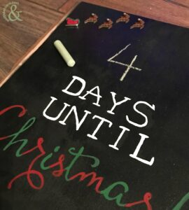 DIY Chalkboard Countdown to Christmas