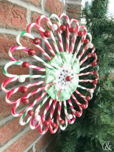 DIY Christmas Candy Cane Wreath
