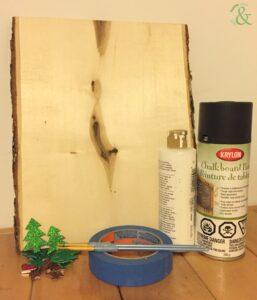 DIY Chalkboard Countdown to Christmas