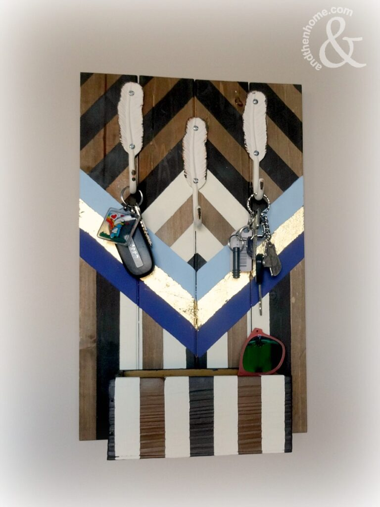 boho-chevron-key-holder-completed-three