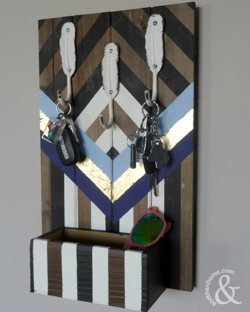 boho-chevron-key-holder-completed-two