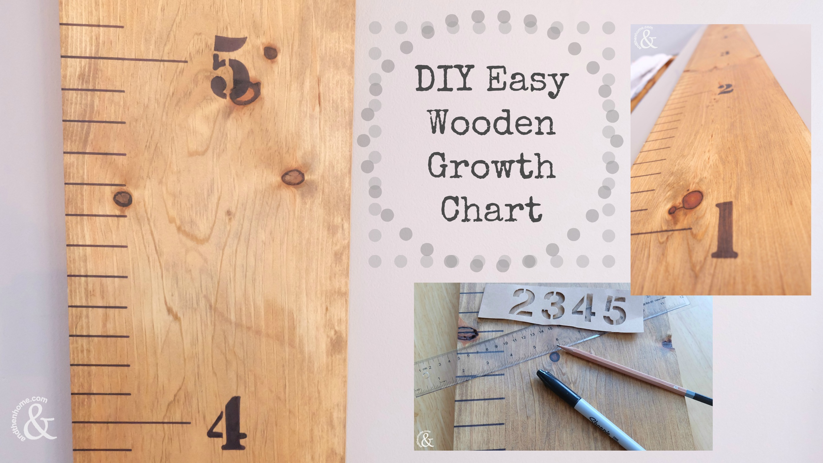Diy Easy Wooden Growth Chart And Then Home