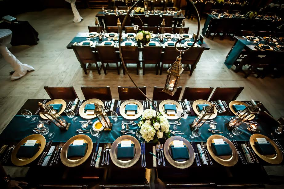 The finished boxes on the tables. Photo Credit: Banga Photography