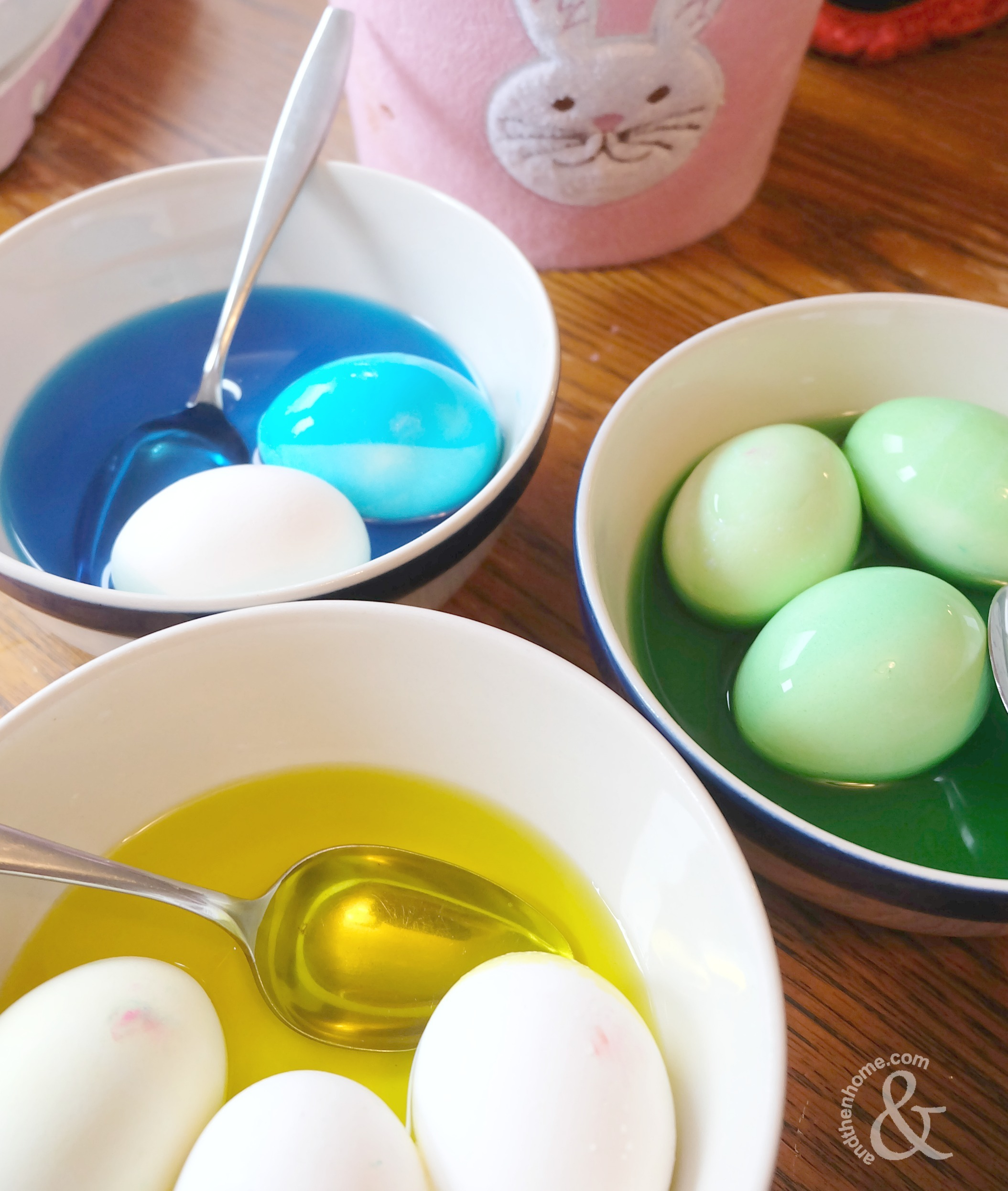Food Colouring Painted Easter Eggs And Then Home
