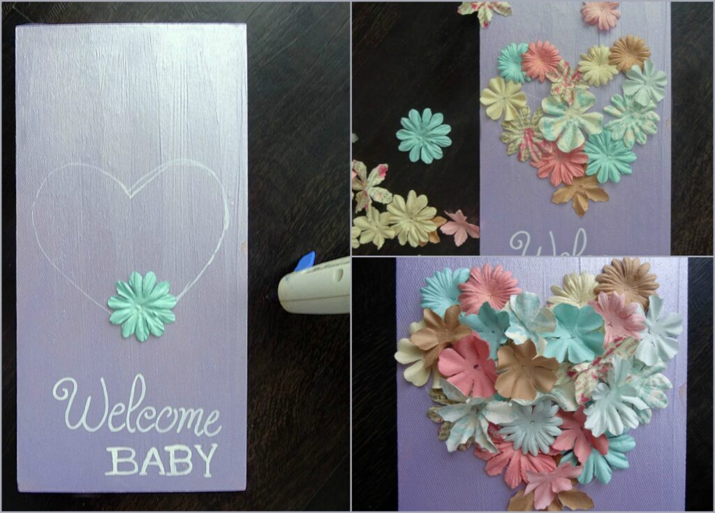 welcome-baby-flower-sign-step-four