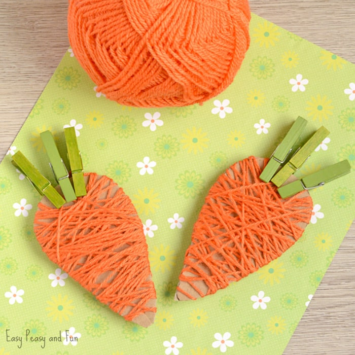 yarn-wrapped-carrots-craft