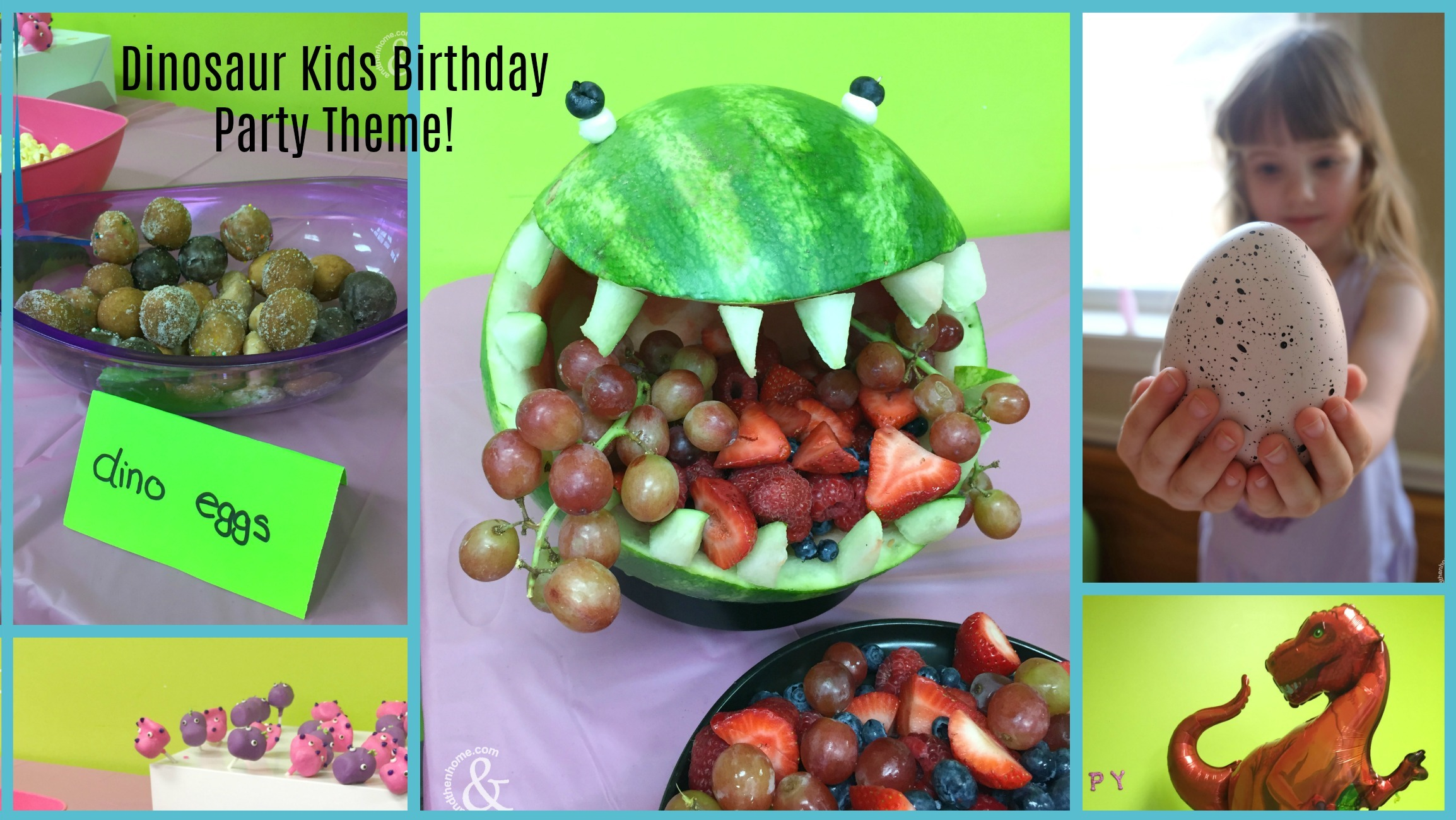 Kids Birthday Party Theme - Dinosaur Party AndThenHome