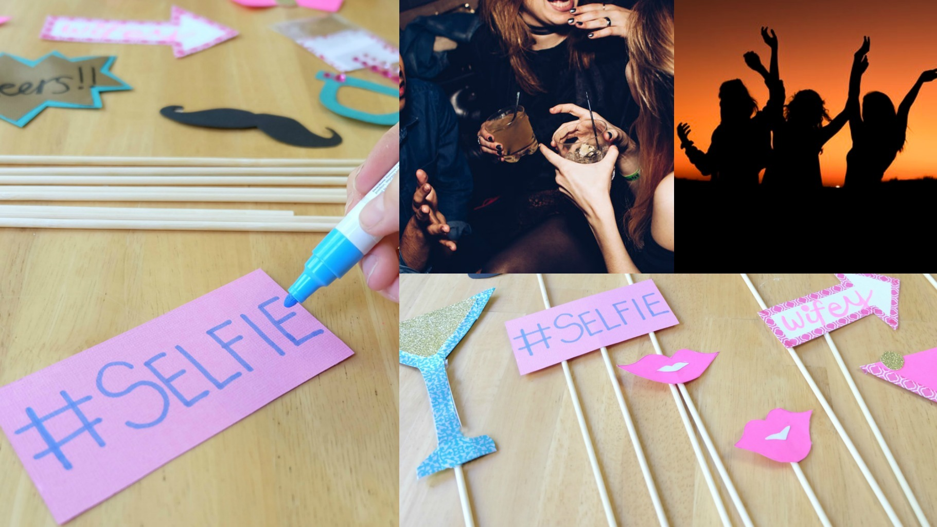 DIY Bachelorette Selfie Photo Booth Props And Then Home