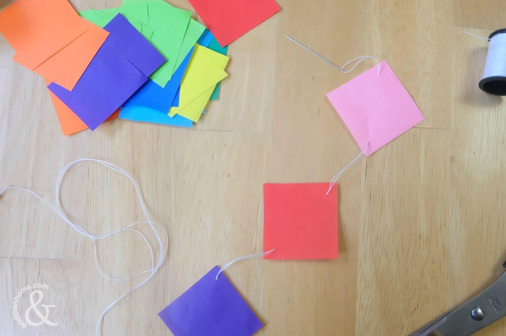 Colourful DIY Origami Garland Party Decor