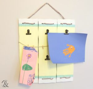 DIY Easy Kids Art Display And Then Home