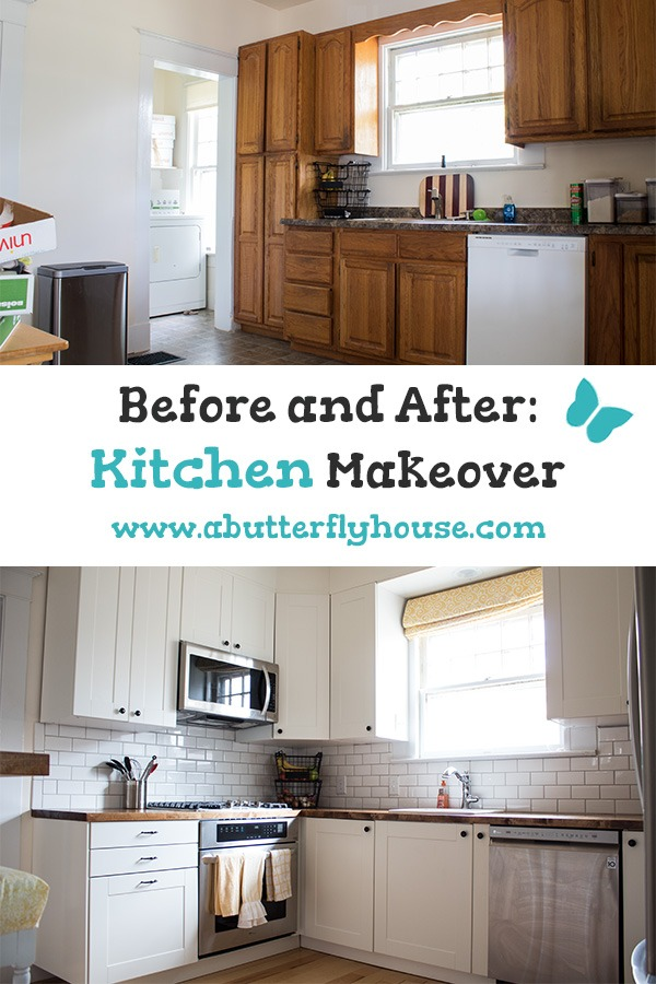 Before and After : Kitchen Makeover - A Butterfly House