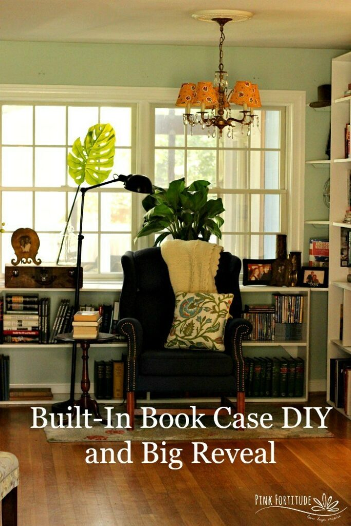 Built-in Book Case DIY and Big Reveal - Pink Fortitude