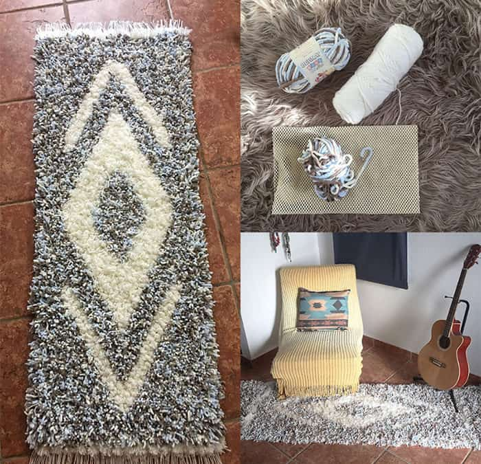 How to Make a Fluffy Pom Pom Rug/DIY Tutorial - HungariCan Journey