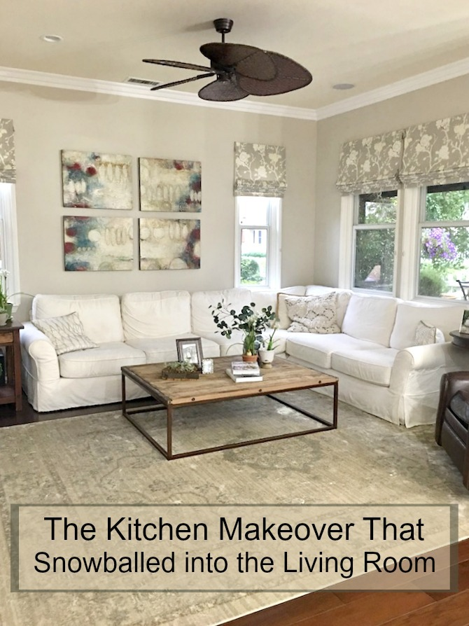 The Kitchen Makeover That Snowballed into the Living Room - The Organic Kitchen