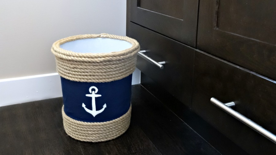 Up-Cycled Dollar Store Trash Can - And Then Home