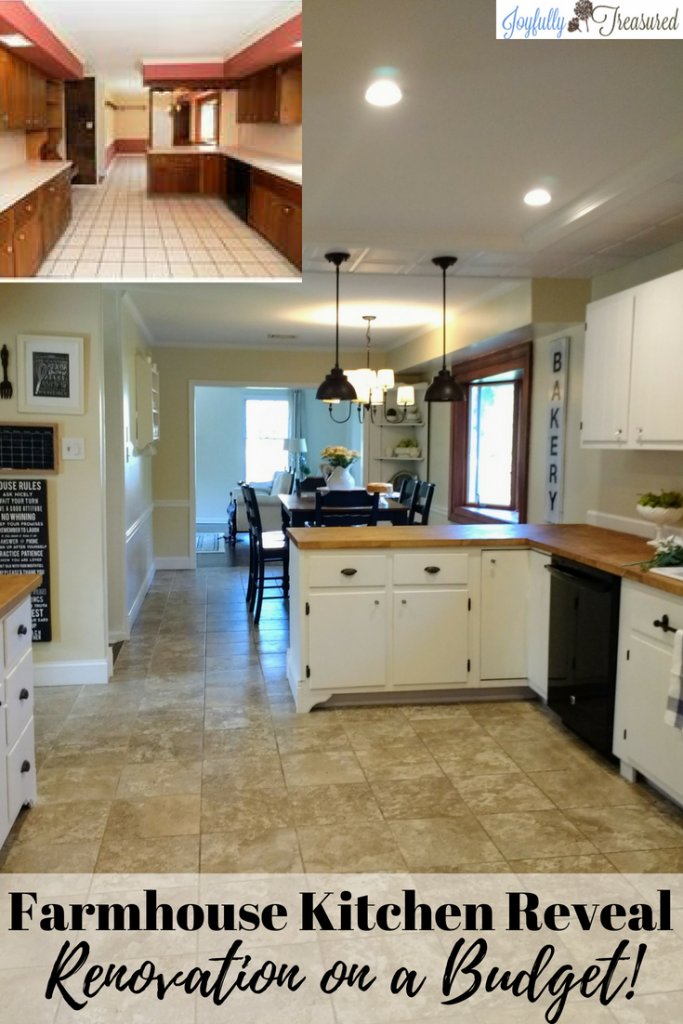 Our DIY Kitchen Remodel Before and After, Tackling a Farmhouse Kitchen Makeover on a Budget - Joyfully Treasured