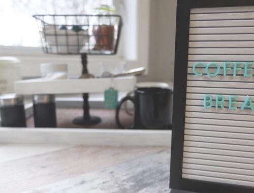 Easy DIY Coffee Bar Station Idea