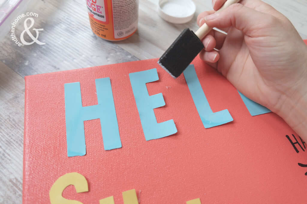 Hello Sunshine Canvas, DIY Summer Decor Project