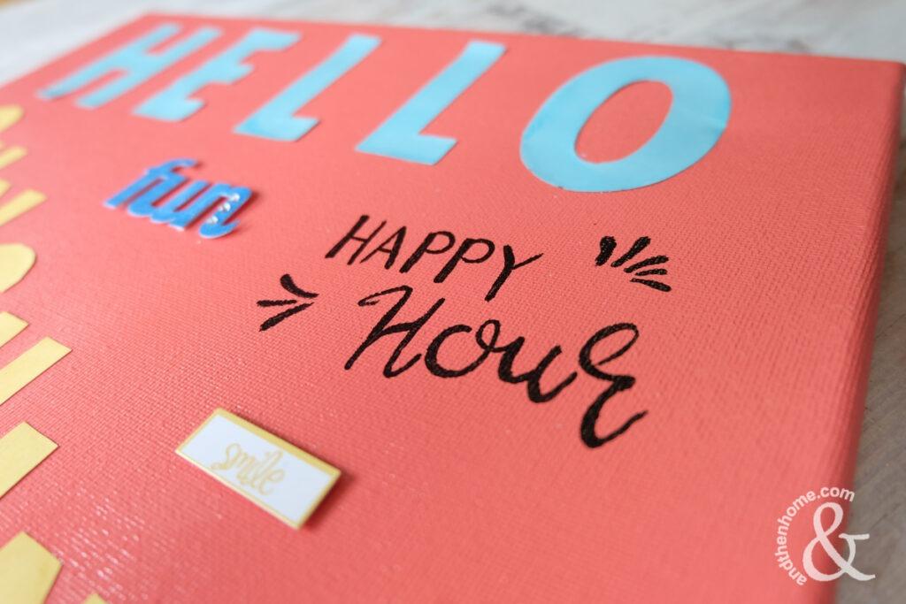Hello Sunshine Canvas, DIY Summer Decor Project