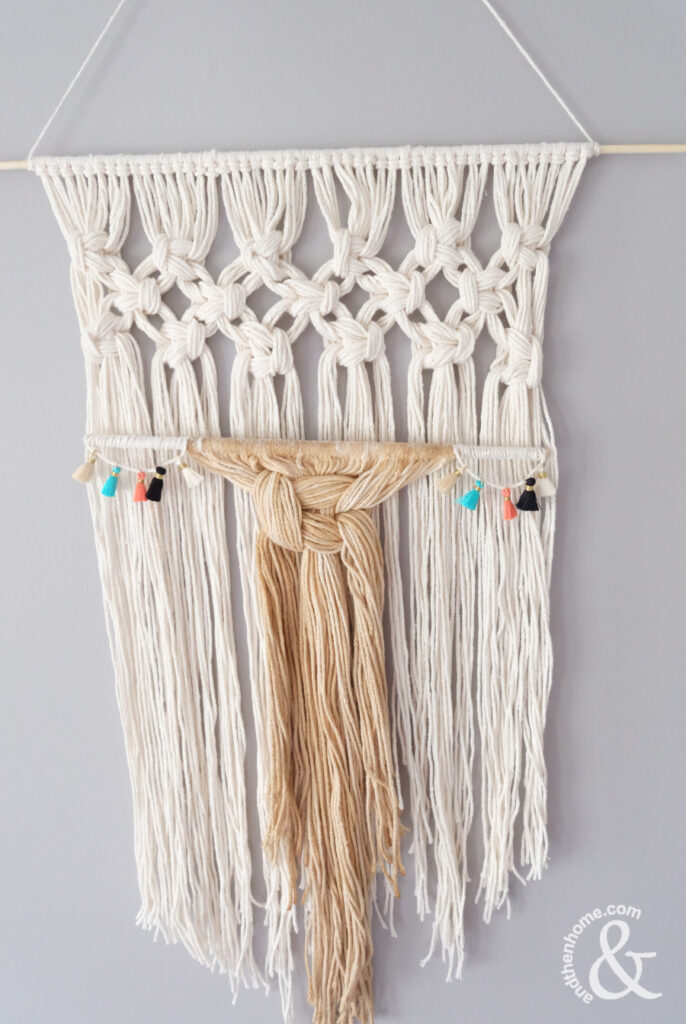 How To Make A Macrame Wall Hanging With Natural Coffee