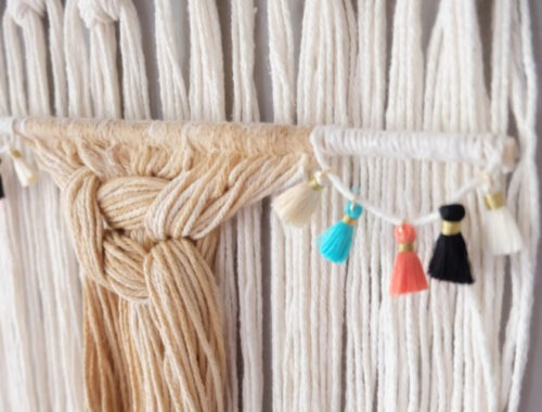 How to Make a Macrame Wall Hanging with Natural Coffee Dying Title 2