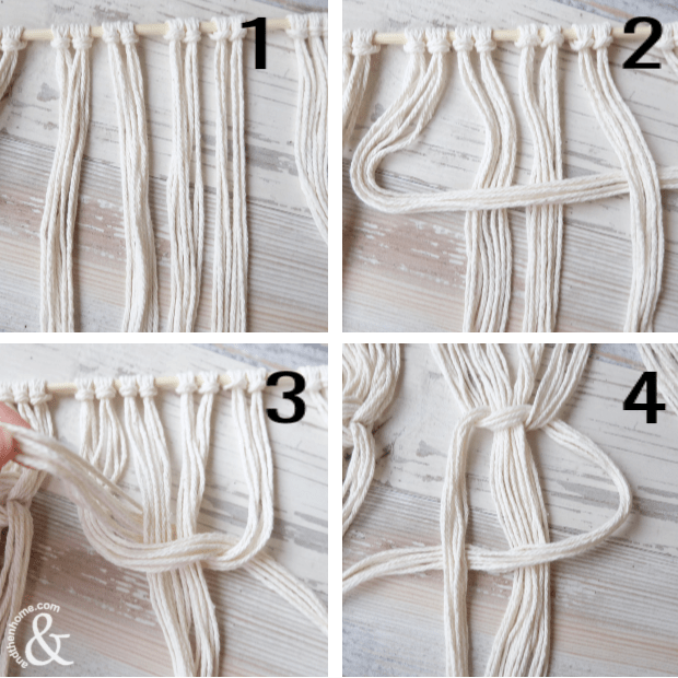How to Make a Macrame Wall Hanging with Natural Coffee Dying