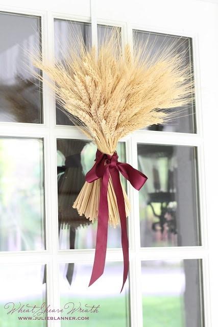 DIY Wheat Sheaf Fall Wreath by Julie Blanner