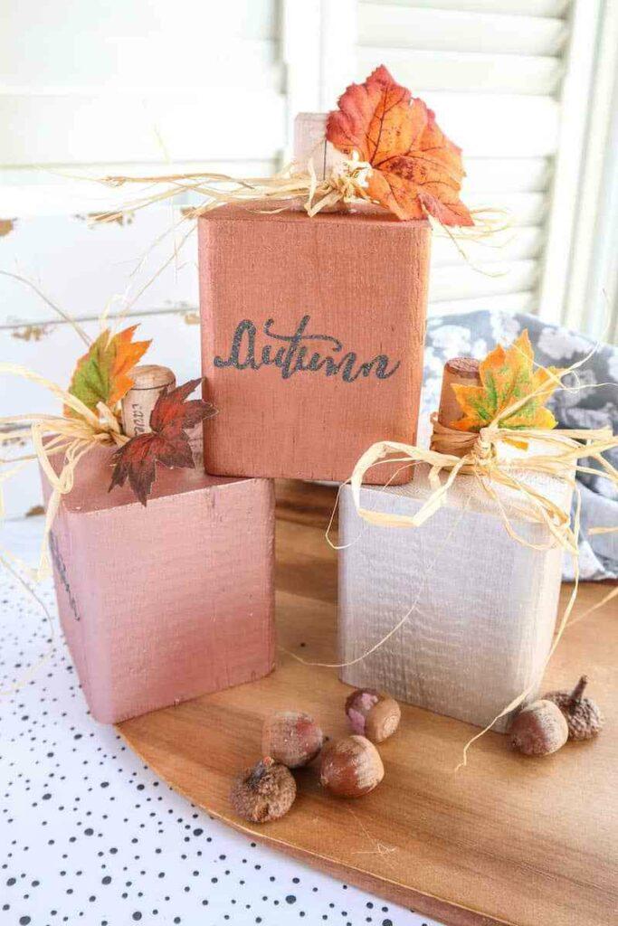 DIY Wooden Pumpkins by Single Girls DIY