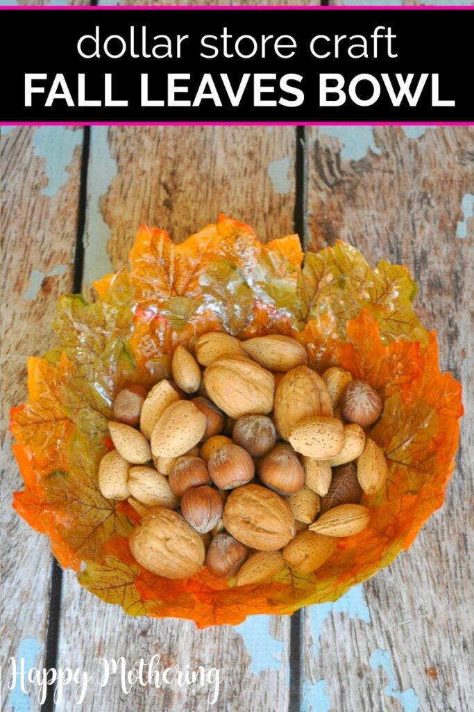 DIY Fall Leaves Bowl by Happy Mothering.