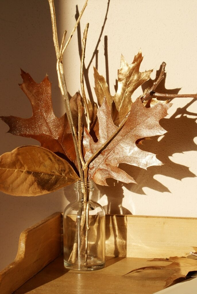 DIY Painted Leaves and Twigs (Easy Fall Decoration!) by Francine's Place Blog