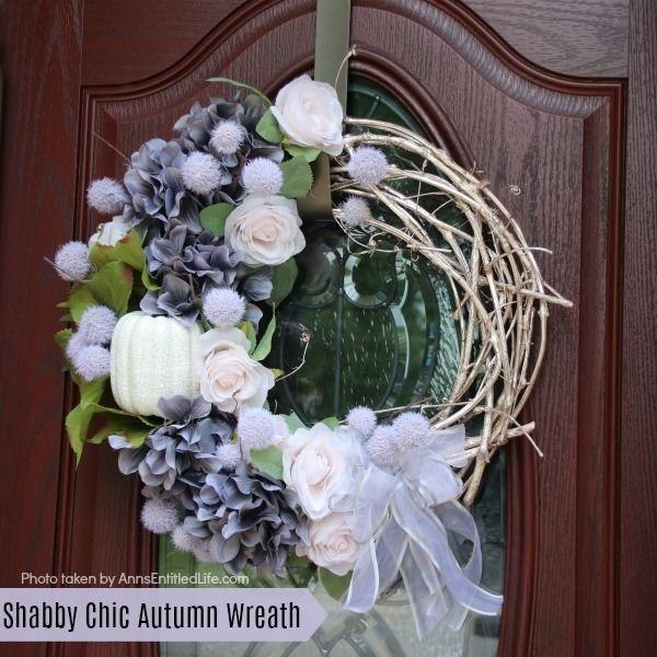 Shabby Chic Autumn Wreath by Ann's Entitled Life.